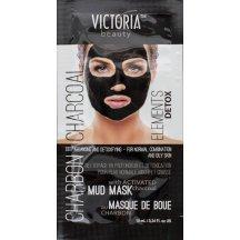 Victoria Beauty DETOX Mud Charcoal (uhlie) Bahenná Pleťová maska, 10 ml