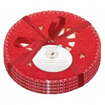 Kitchen Craft Textilné vianočné prestieranie pod hrnčeky, 4 ks