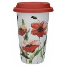 Creativ Tops Cestovný hnček porcelánový Watercolour Poppies, 1 ks
