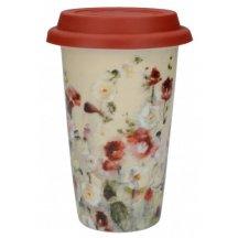 Creativ Tops Cestovný hrnček porcelánový Wild Field Poppies, 1 ks