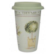 Creativ Tops Cestovný hrnček porcelánový Topiary, 350 ml