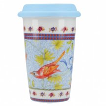 Creative Tops Cestovný hrnček porcelánový Rose Garden modrý, 290 ml