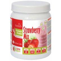 TianDE Jahodový proteínový kokteil - mix so sladidlom, 300 ml