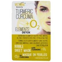 Victoria Beauty Detox Okysličujúca bublinková pleťová maska s KURKUMOU,20g