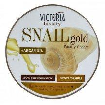 Victoria Beauty SNAIL GOLD Rodinný krém so slimačím extraktom a arganovým olejom,200 ml