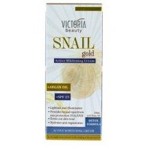 Victoria Beauty Snail GOLD Ochranný pleťový krém SPF25 so slimačím extraktom a arganovým olejom, 50 ml