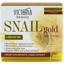 Victoria Beauty SNAIL GOLD Denný krém so slimačím extraktom a arganovým olejom, 50 ml