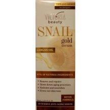 Victoria Beauty SNAIL GOLD Vyhladzovací pleťové sérum so slimačím extraktom a arganovým olejom, 30 ml