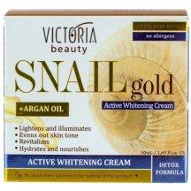 Victoria Beauty SNAIL GOLD Intenzívny bieliaci krém so slimačím extraktom a arganovým olejom, 50 ml
