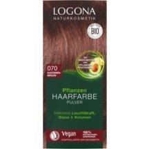 LOGONA - Bio Prášková farba na vlasy Gaštanovohnedá, 100g