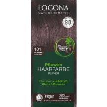 LOGONA - Bio Prášková farba na vlasy Black intense, 100 g
