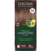 LOGONA - Bio Prášková farba na vlasy Prírodná hnedá, 100g