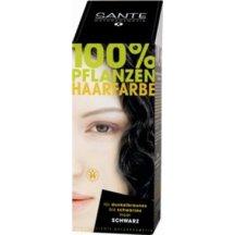 SANTE - Bio Prášková farba na vlasy- čierna, 100g