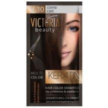 Victoria Beauty Keratin Therapy Tónovací šampon na vlasy V 30, Coffee, 4-8 umytí