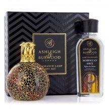 Ashleigh & Burwood Darčekové balenie Malá katalytická lampa GOLDEN SUNSET s vôňou ANTIQUE AMBER 250 ml