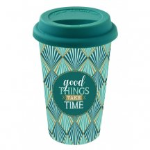 Easy Life Cestovný hrnček Good Things Take Times, 350ml