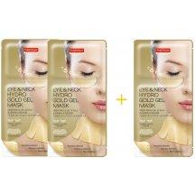 Purederm Zlatá hydrogelová maska pre očné okolie a krk, AKCIA 2 + 1