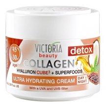 Victoria Beauty Collagen 30+ Ultra hydratačné Denný a nočný krém s kyselinou hyalurónovou a Superfood, 50 ml