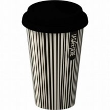 Creative Tops Cestovný hrnček porcelánový Black Stripe,
