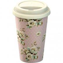 Creative Tops Cestovný hrnček porcelánový Cottage Flower, 290ml