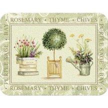 Creative Tops Sklenená krájacia doska Topiary, 40x30 cm