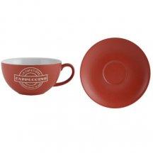 Creative Tops Porcelanová šálka na kavu - cappuccino červená