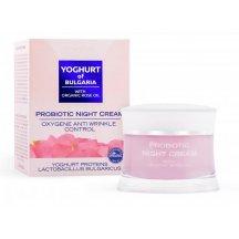 BIO Fresh Cosmetic Probiotický  pleťový nočný okysličujúci krém s kolagénom a s ružovým olejom, 50ml