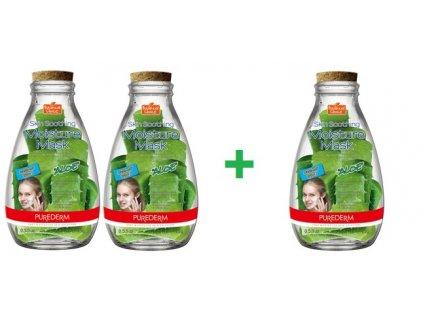 PUREDERM Botanical Choice Upokojujúca a  výživná maska Aloe vera, AKCIA 2 + 1