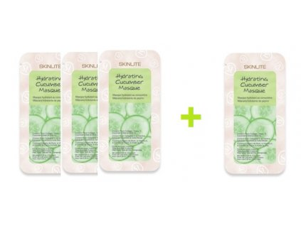 Skinlite Hydratačná maska s kolagénom a uhorkou, AKCIA 3+1