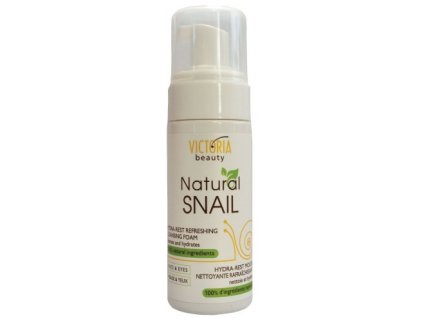 Victoria Beauty Natural Snail HYDRA - REST, Osviežujca čistiaca pena so slimačím extraktom, 160ml