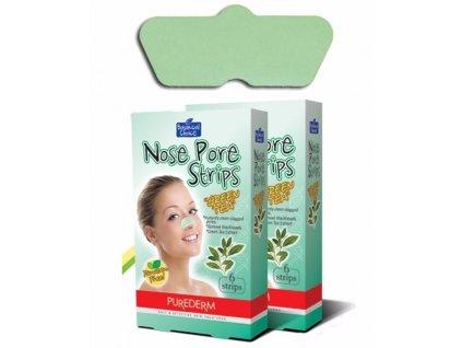 Čistiace pásiky na nos s výťažkami zeleného čaju , 6 ks