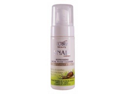 Victoria Beauty Snail Extract osviežujúca čistiaca pena s extraktom zo slimáka, 160ml