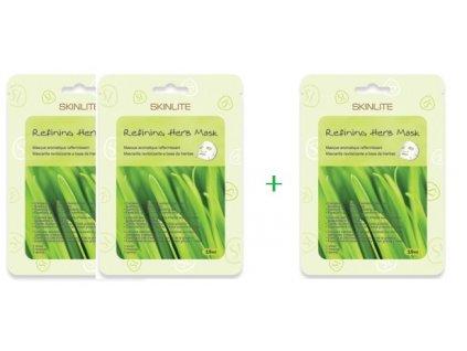 Skinlite bylinná pleťová maska pre mastnú pokožku, AKCIA 2+ 1