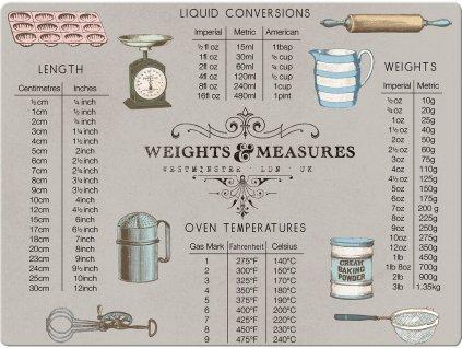 Creative Tops Sklenená krájacia doska Weights and Measures 41 x 31 cm