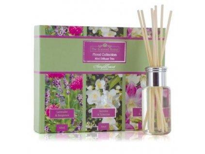 Ashleigh & Burwood Darčekové balenie difúzerov LAVENDER & BERGAMOT, JASMINE & TUBEROSE, Freesia & ORCHID (kvetinové vône)