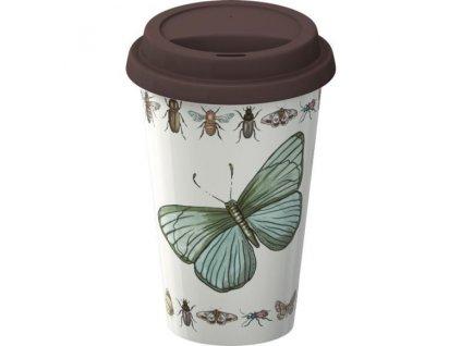 Creative Tops Cestovný hrnček porcelánový Vintage Bugs, 290ml