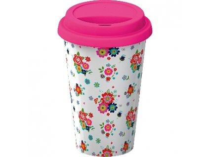 Creative Tops Cestovný hrnček porcelánový Floral, 290ml