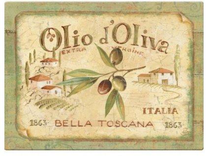 Creative Tops Sklenená krájacia doska Olio d´oliva , 41 x 31 cm