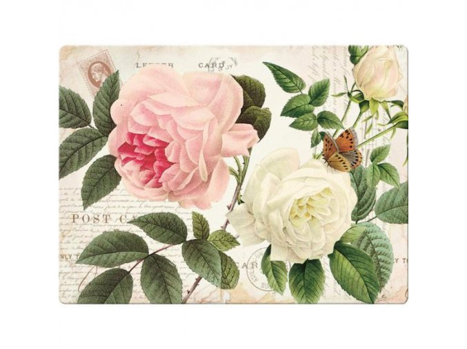 Creative Tops Sklenená krájacia doska  Rose Garden, 40 x 30 cm