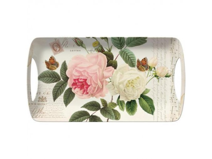 Creative Tops Melamínová servírovacia tácka Rose Garden, 39x20 cm