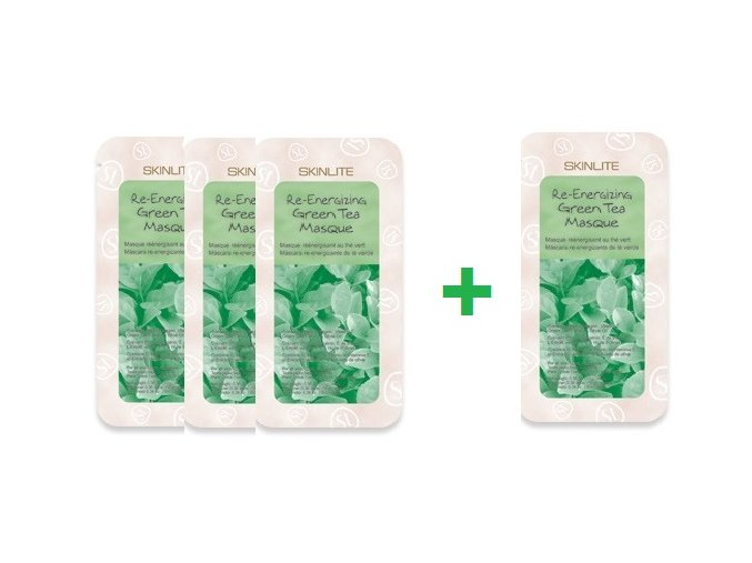 Skinlite Kolagénová pleťová maska so zeleným čajom , AKCIA 3+1