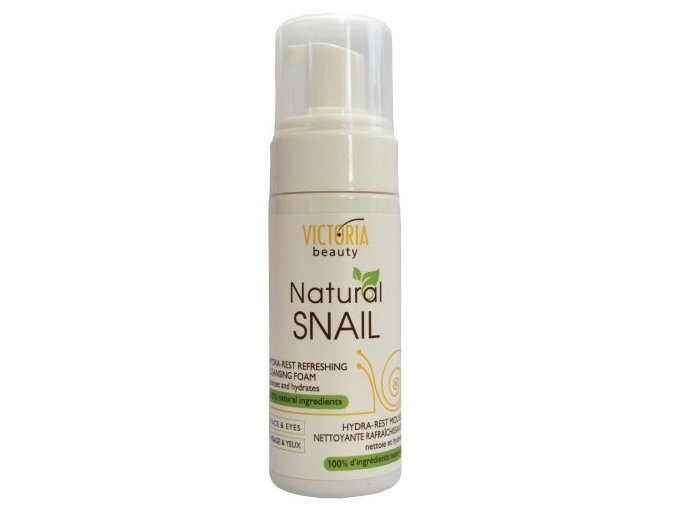 Victoria Beauty Natural Snail HYDRA - REST, Osviežujca čistiaca pena so slimačím extraktom, 160ml