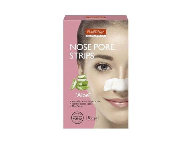 Purederm Čistiace pásiky na nos s výťažkami z Aloe Vera