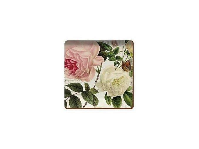 Creative Tops Korkové prestieranie Rose Garden,  10 x 10 cm, 6 kusov