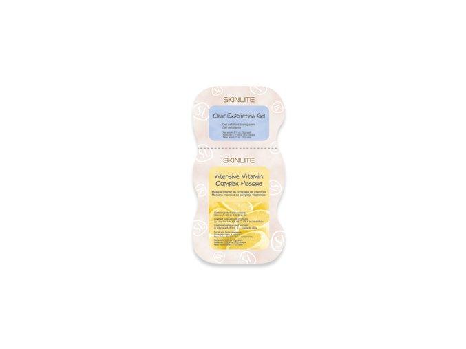 Skinlite Pleťová maska 2v1, peeling a výživa