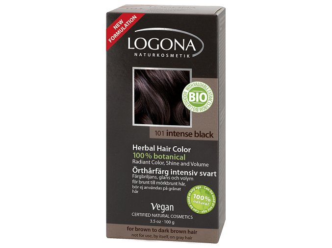 Logona - Prášková farba na vlasy – Black Intense