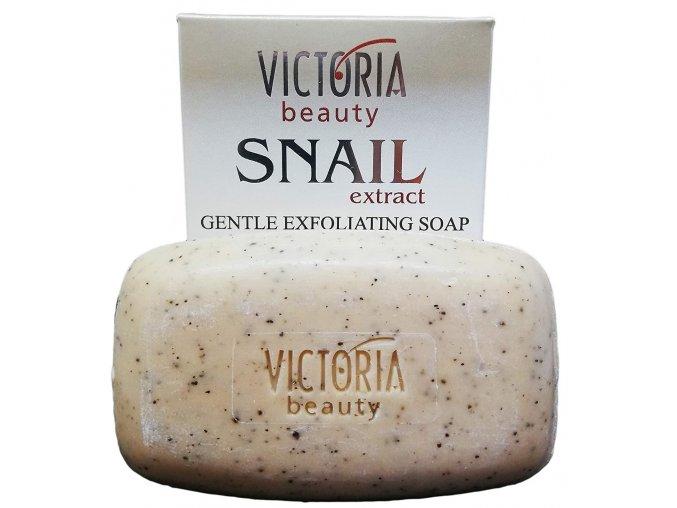 Victoria Beauty Snail Extract jemné exfoliačné mydlo s extraktom zo slimáka a výťažkom kávy, 75g