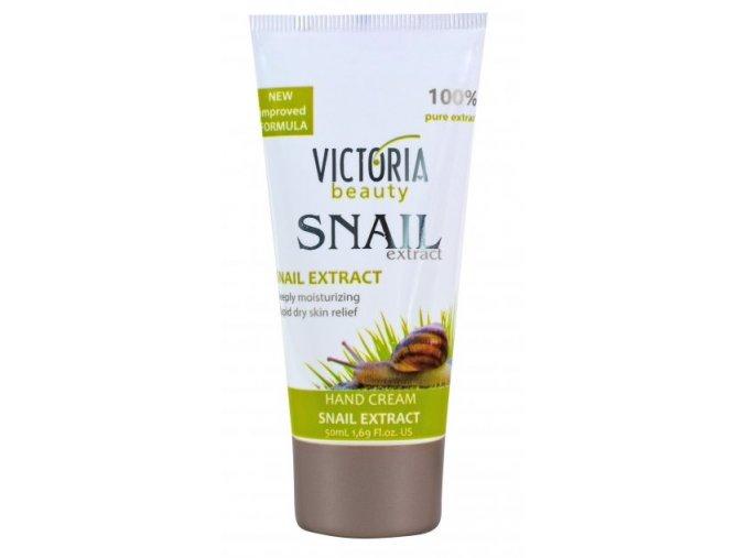 Victoria Beauty Snail Extract  Krém na ruky so slimačím extraktom pre krásne a zdravé ruky, 100ml