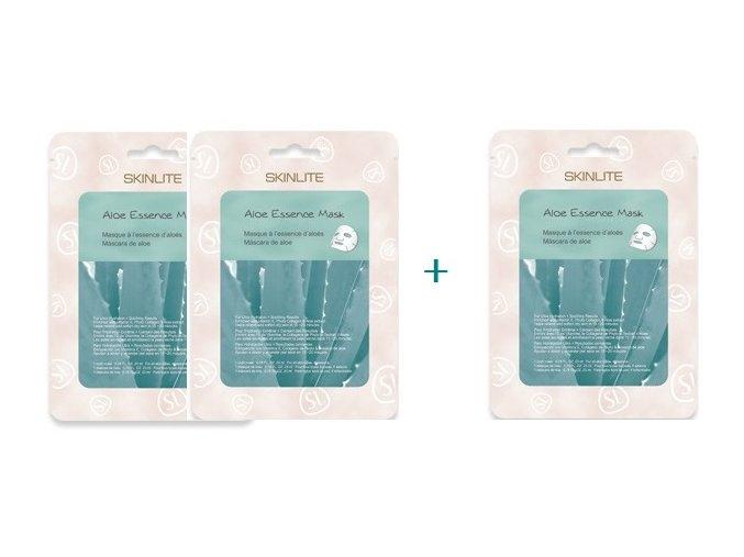 Skinlite Pleťová maska s výťažkom z Aloe vera a kolagénom , AKCIA 2+1