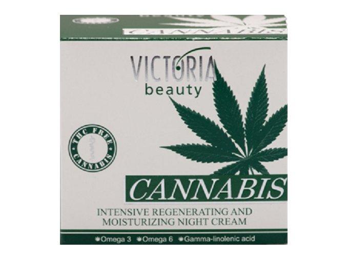 Victoria Beauty Hydratačný a regeneračný nočný krém s obsahom Konopného oleja, 50ml